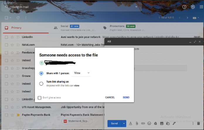 Now Directly Grant Access to Google Drive Files in Gmail